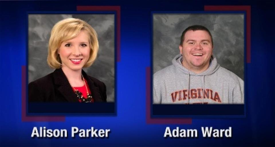 Alison Parker (left) and Adam Ward were fatally shot by a gunman during an on-air interview in Virginia.